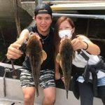 船酔いからの大物GET!! ちょいウネりの千葉県東京湾でマゴチがたくさん釣れました!