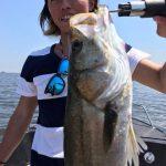 真夏の炎天下の中、シーバスをGET! 暑い中でも東京湾で釣れます!釣らせます!