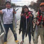 疲れ果てるまで釣れ続けるサワラ! 東京湾でデカい青物釣るなら今ですよ!
