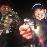 ナイトゲームで良形メバルが爆釣! 25cmUPの魚が釣れて楽しめてます!