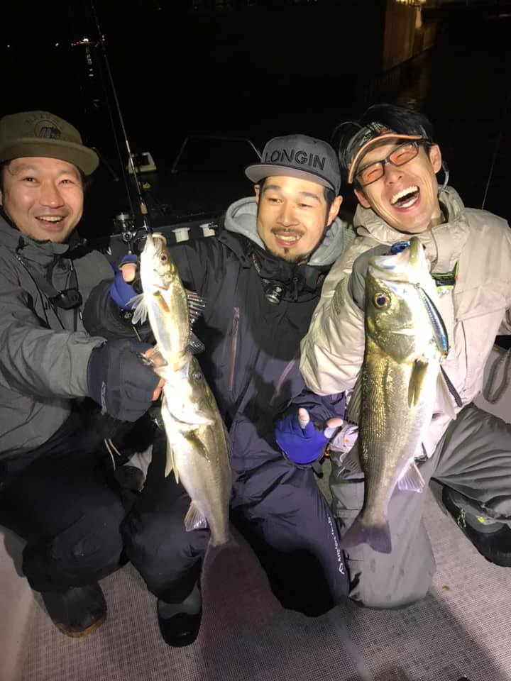 4/28 東京湾 深夜 ボートシーバス