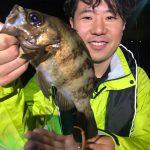 上げ潮タイミングでメバルを含め5目釣り! 5月でもシーバス含めた入れ食い釣果!