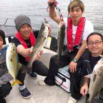 東京湾のボートゲーム、VJでシーバス連発&シンペンで青物ナブラの狙い撃ちで爆釣!