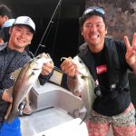 夏のシーバス&タコ釣り!バスプロ斉藤哲也プロとJBトップ50の古川さんがボートに乗船しに来てくれました!