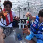 夏休みにボートフィッシング!小学生のお客様がシーバスやタコをGETしてくれました!