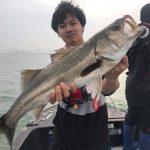 会社のレクリエーションで五目船釣り!シーバスをはじめ、各種青物が釣れました!