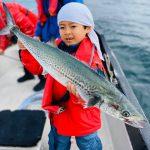 家族みんなでサワラと太刀魚、シーバスをGET!小さなお子様にも魚釣りを楽しんでいただきました!