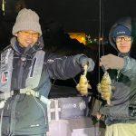 東京湾で20cm平均のメバルが釣れてます!北風の中、楽しんでいただきました!