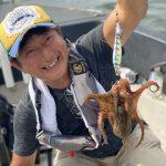 8月下旬に、なんでも釣り便!タコ、アジ、シーバスの3目釣りが楽しめました!