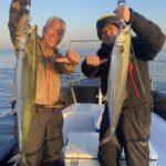 サワラをガチ狙いでダブルヒット&キャッチ!シーバス、サバも釣れました!
