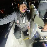 東京湾ナイトアジングで20cmオーバーのアジが連発!バチコンが強かったです!