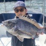 黒鯛落とし込み釣りで46cmGET!魚からのあたりはなかなかありました!